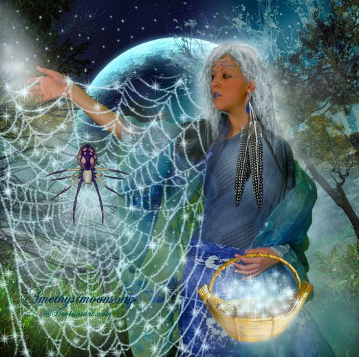 Grandmother Spider art by Amethyst Moon Song