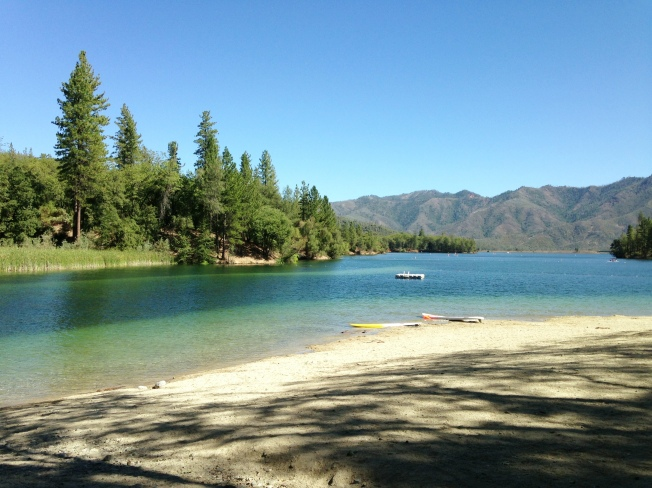 Brandy Creek beach at Whiskeytown Lake
