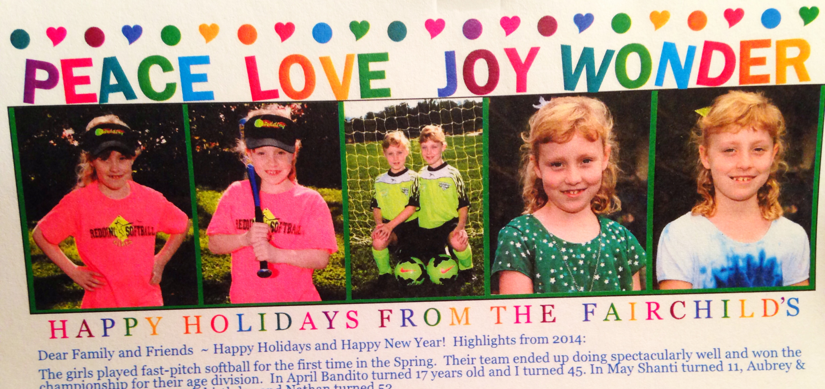 holiday letter snapshot
