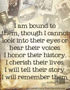 I am bound to them
