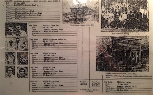 Roberts (Briggs) family tree page 2