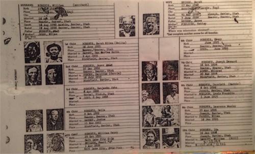 Roberts (Briggs) family tree